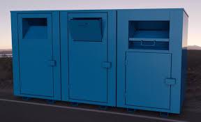 clothing donation bin manufacturer book drop tanks