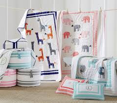Baby Nursery Bedding Harper Elephant Baby Bedding Pottery Barn Kids