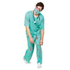 mens bloody surgeon fancy dress costume halloween zombie
