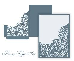 pocket invitation envelopes laser cut wedding invitation pocket envelope 5x7 corner frame