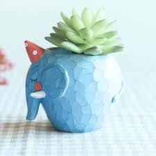 cute elephant resin succulent pot mybageecha