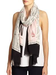 Bloomingdales New York Map by Kate Spade New York New York Map Scarf In Pink Lyst