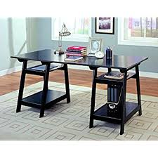 Office Desk Table Amazon Com Convenience Concepts Designs2go Trestle Desk Black