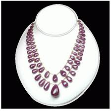 beaded drop necklace images Ruby drop beads necklace at rs 38431 11 packet beaded necklace png