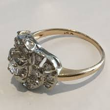 gold art rings images 14k yellow gold art deco diamond ring 0 45 ct tdw h color si JPG