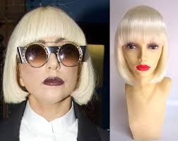 lady gaga dressed normal for halloween deluxe lady gaga costume wigs celebrity costume wigs simon