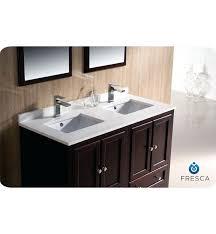 Fresca Bathroom Vanities White Double Vanity Aurora White Double Bowl Glass Vanity Top