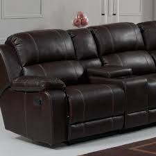 amazon com pulaski charlotte reclining faux leather sectional