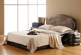 Air Mattress With Headboard Bed With Side Table Sharper Image