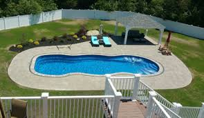 Backyard Leisure Pools by In Ground Fiberglass Pool Sales And Service Ri And Mass