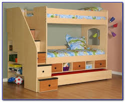 Bunk Bed With Stairs And Trundle Twin Over Full Bunk Bed With Stairs And Trundle Bedroom Home