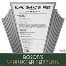 Blank Character Sheet 2 1 8 390 Questions By Theboson On