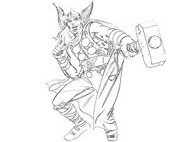 Comic Thor Coloring Pages Printable Free Coloring Pages For Kids Thor Coloring Page