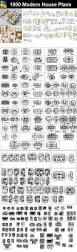 download 1000 modern house autocad plan collection include floor