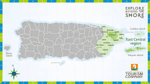 Puerto Rico On A Map by East Central Puerto Rico Map Puerto Rico U2022 Mappery