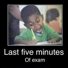 last 5 minutes funny school meme