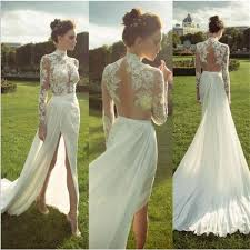 cheep wedding dresses ivory evening cheap wedding dress side split prom dress