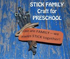 my family family tree stick crafts for preschool