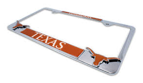 exes license plate frame of longhorns 3d license plate frame elektroplate