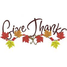 thanks with leaves thanksgiving filled machine embroidery