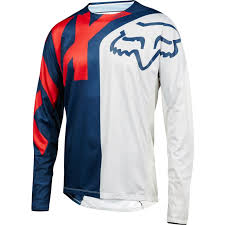 enlarged image demo fox youth demo long sleeve jersey blue red bike24