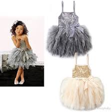 2017 cute baby girls cake layered sequins princess halter tutu