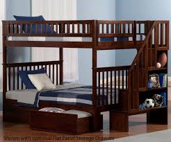 woodland full over full stair bunk bed ab56804 atlantic