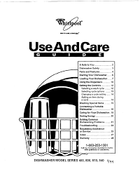 Whirlpool Dishwasher Service Whirlpool Dishwasher 400 User Guide Manualsonline Com