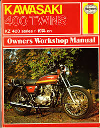 haynes kawasaki kz 400 series twins workshop manual 1974 on in