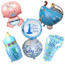 birthday boy 6pcs lot baby shower boy helium foil balloons baby shower balloon