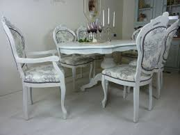 vintage table and chairs french style table with 6 upholstered chairs painted vintage