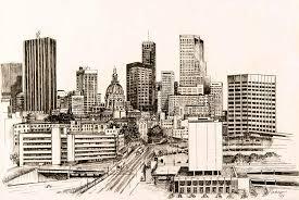atlanta skyline drawing by pamir thompson