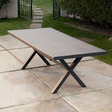 Rectangle Patio Table Belham Living All Weather Resin Patio Dining Table Hayneedle