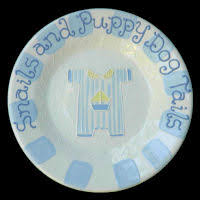 painted wedding plates personalized bug ceramics custom personalized painted