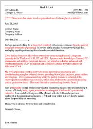 cover letter opening sentence examples