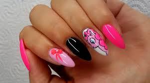 manicure hybrydowy pinkie pie nail art youtube