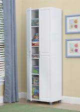 Broom Closet Cabinet Tall Storage Cabinet Slim Kitchen Wall Pantry Broom Closet Linen