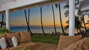 indo lotus beach front house maui hawaii vacation rental youtube