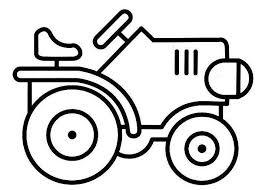 dessin de coloriage tracteur à imprimer cp26291