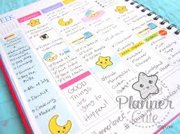 printable kawaii weather planner stickers moon and star k001