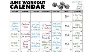workout calendar template june workout calendar workout routines