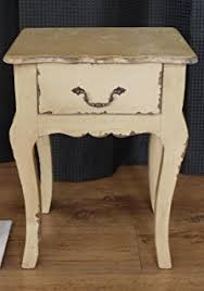 french style side table french style ivory cream shabby chic bedside side table amazon co