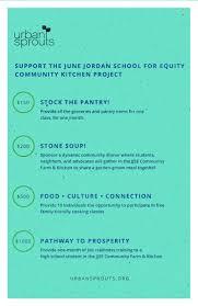 Urban Soup Kitchen Menu - sponsor the june jordan for equity community kitchen