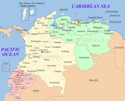 World Map Aruba by Colombia Maps