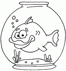 coloring pages of fish bowl coloring coloring home