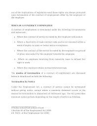 Contract Termination Notice Modes Of Termination Of Contract Of Employment