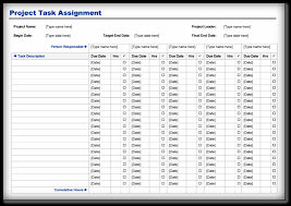 project task assignment template word pdf format