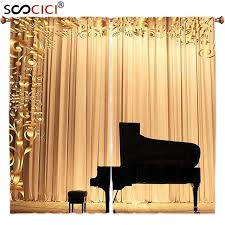 window curtains treatments 2 panels concert theatre stage drapes