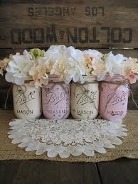 Rustic Mason Jar Centerpieces For Weddings by Rustic Wedding Mason Jars Centerpieces Burlap Wedding Painted