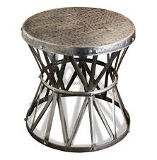 Metal Accent Table Table Beautiful Metal Drum Side Table 1stdibs A Round Metal